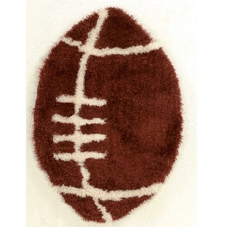 """Hand Tufted Football Polyester Rug (43"""")"""