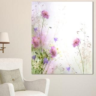Designart 'Beautiful Pastel Floral Pattern' Floral Canvas Artwork Print