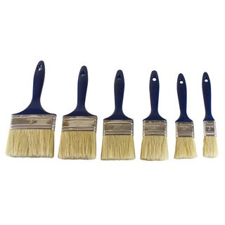 Topzone Plastic and Metal 6-piece High-quality Paint Brushes Set