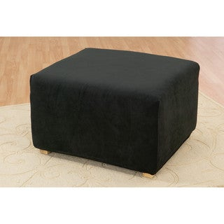 Sure Fit Stretch Pique Solid-colored Oversized Ottoman Slipcover