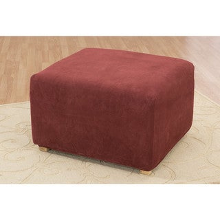 Sure Fit Stretch Pique Oversized Ottoman Slipcover