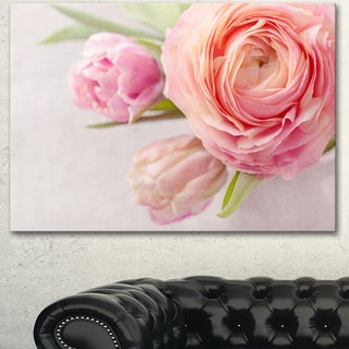 Designart 'Full Bloom and Blooming Flowers' Floral Canvas Artwork Print