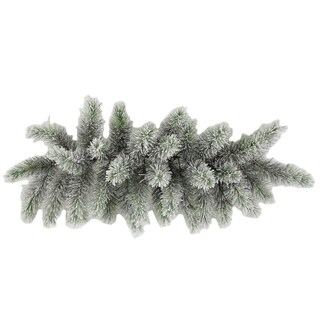 30-inch Christmas Pine Swag with 34 Frosted Snow Tips