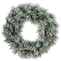 Christmas 30-inch Pine Wreath With 60 Frosted Snow Tips