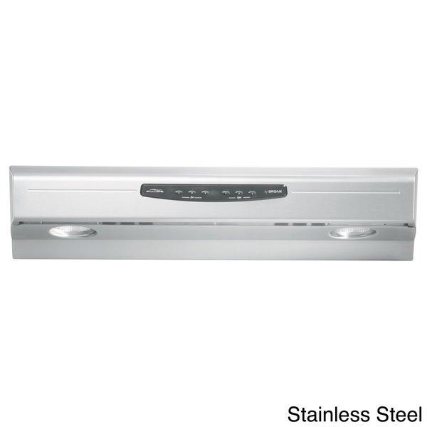 shop broan qs230 allure series stainless steel 30 inch under cabinet 300 cfm range hood free. Black Bedroom Furniture Sets. Home Design Ideas