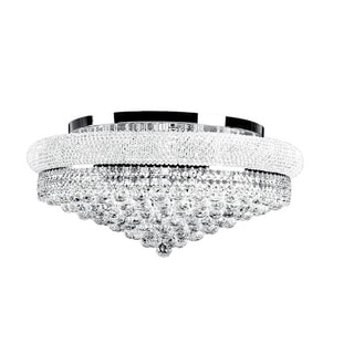 Primo Collection Crystal and Steel Chandelier
