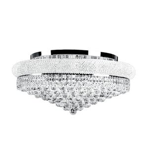 Primo Collection Crystal and Steel Flush Mount