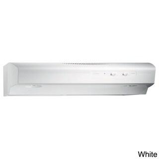 Broan QS130 Allure Series White 30-inch 220 CFM Under Cabinet Hood