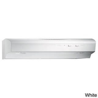 Broan QS130 Allure Series White 30-inch 220 CFM Under Cabinet Hood