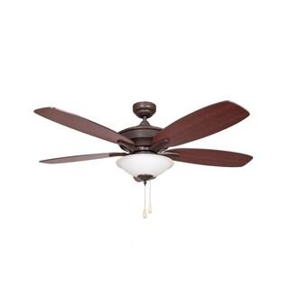 Y-Decor ALEXIS Oil Rubbed Bronze 5-blade Ceiling Fan - Brown
