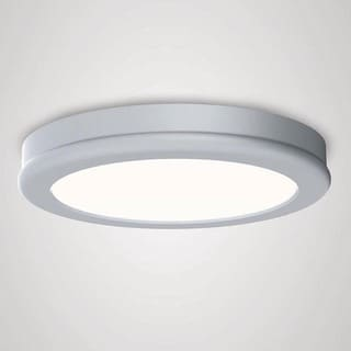 WAC Lighting Geos White Aluminum LED Flush-mount Fixture