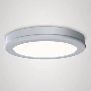 WAC Lighting Geos White Aluminum LED Flush-mount Fixture