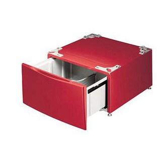 LG 14-inch Front Load Red Washer/ Dryer Top Mount Pedestal (Refurbished)