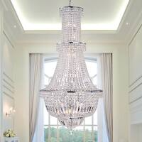 Zainabu 22-light Chrome 28-inch Crystal Chandelier