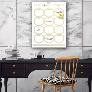 Ready2HangArt Glam Dry Erase Monthly Calendar on ArtPlexi