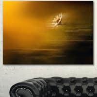 Designart 'Motion Blurred Wild Flower Impression' Large Flower Canvas Art Print - GOLD