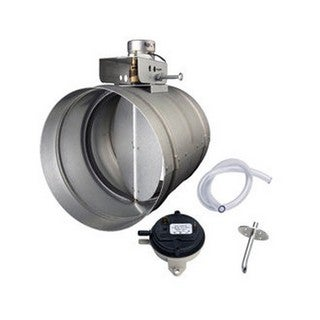 Broan 8-inch Universal Automatic Make-Up Air Damper with Pressure Sensor Kit