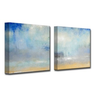 Ready2HangArt 'Coastal Downpour ' by Norman Wyatt, Jr 2 Piece Canvas Art Set