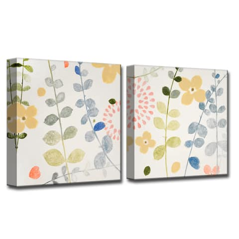 Morning Dew I/II' by Norman Wyatt, Jr 2-Piece Wrapped Canvas Wall Art Set