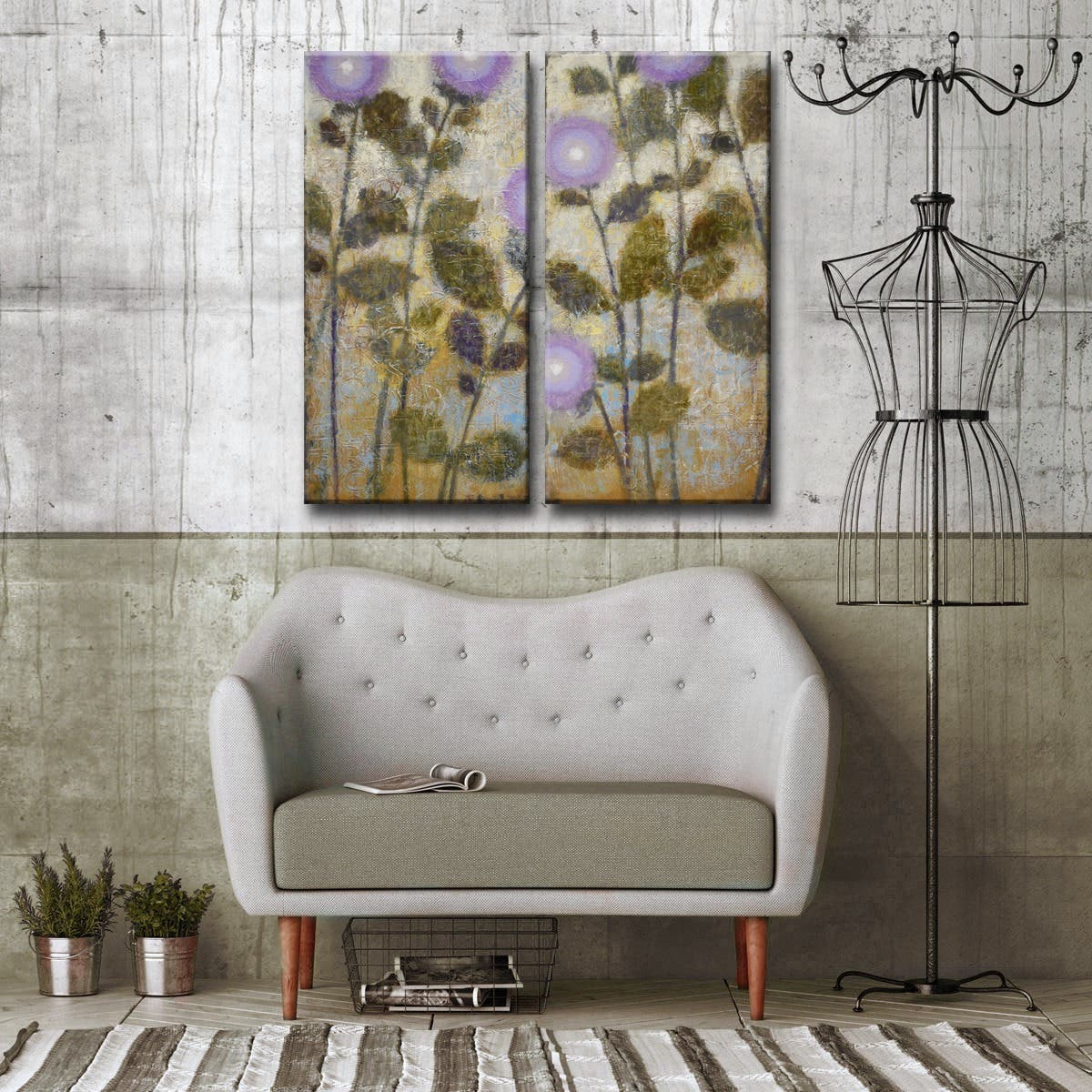 Ready2HangArt 'Amethyst' by Norman Wyatt, Jr 2 Piece Canvas Art Set