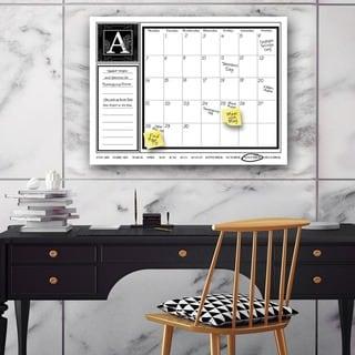 "'Monogram' Dry Erase Monthly Calendar on ArtPlexi (16"" x 20"")"