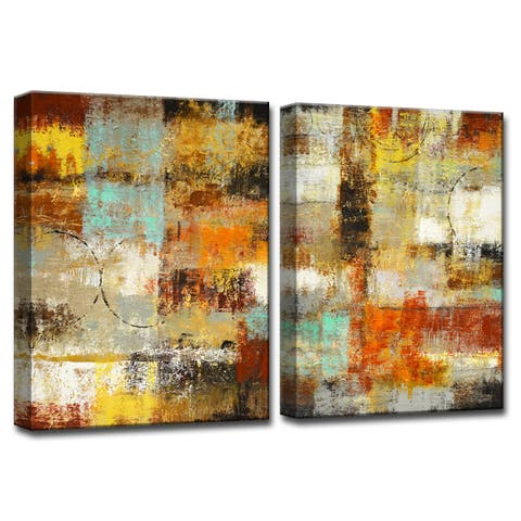 Revelation' by Norman Wyatt, Jr 2-Piece Wrapped Canvas Wall Art Set