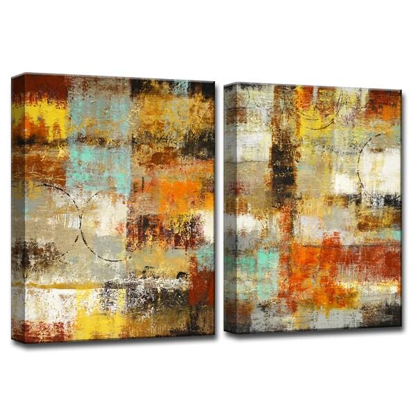 Revelation' by Norman Wyatt, Jr 2-Piece Wrapped Canvas Wall Art Set