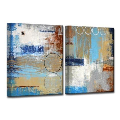 Niagra I/II' by Norman Wyatt, Jr 2-Piece Wrapped Canvas Wall Art Set