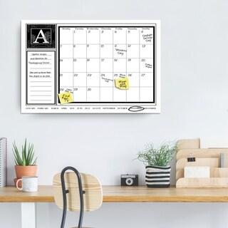 "Ready2HangArt Monogram Dry Erase Monthly Calendar on ArtPlexi (20"" x 30"")"