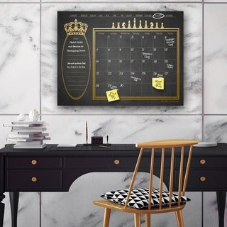 Ready2HangArt Regal Dry Erase Monthly Calendar on ArtPlexi