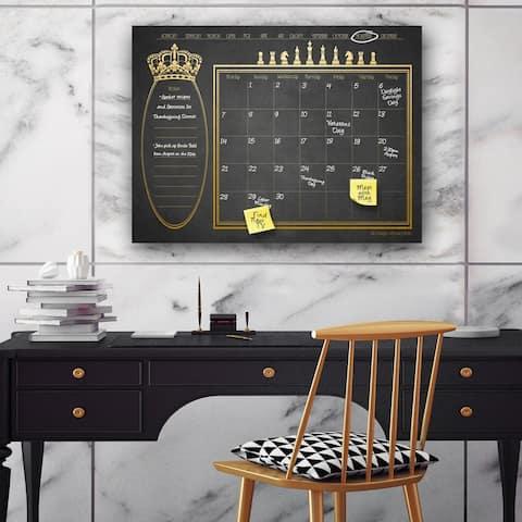 'Regal' Dry Erase Monthly Calendar on ArtPlexi
