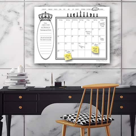 'Regal' Dry Erase Monthly Calendar on ArtPlexi