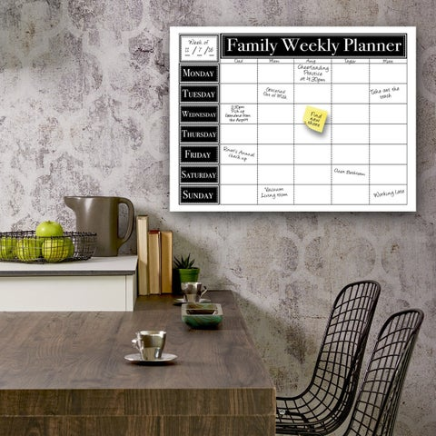 Ready2HangArt Dry Erase Family Weekly Calendar on ArtPlexi