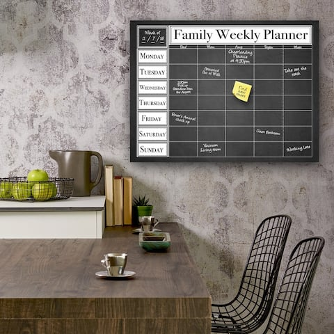 Dry Erase 'Family Weekly' Calendar on ArtPlexi