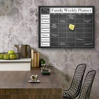 Ready2HangArt Dry Erase Family Weekly Calendar on ArtPlexi