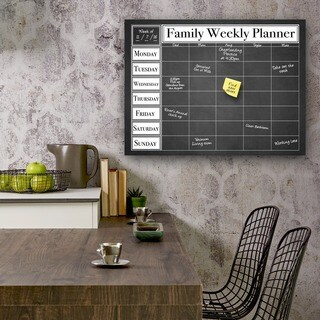 Ready2HangArt Dry Erase Family Weekly Calendar on ArtPlexi (3 options available)