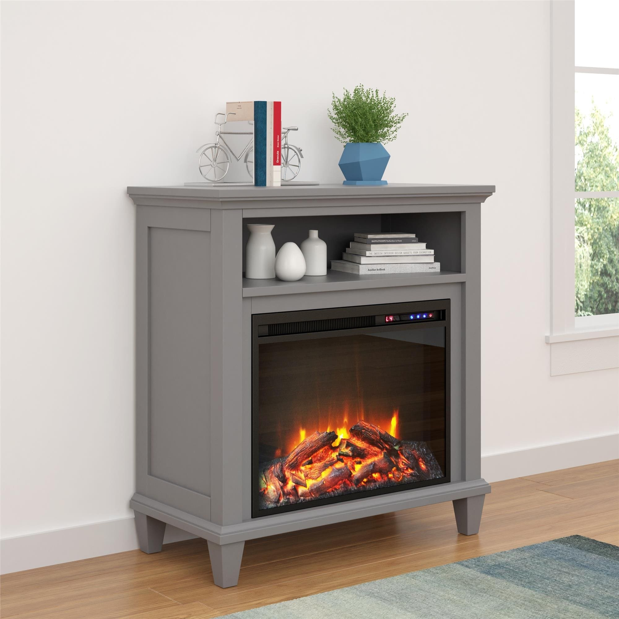 Ameriwood Home Ellington Electric Fireplace Accent Table