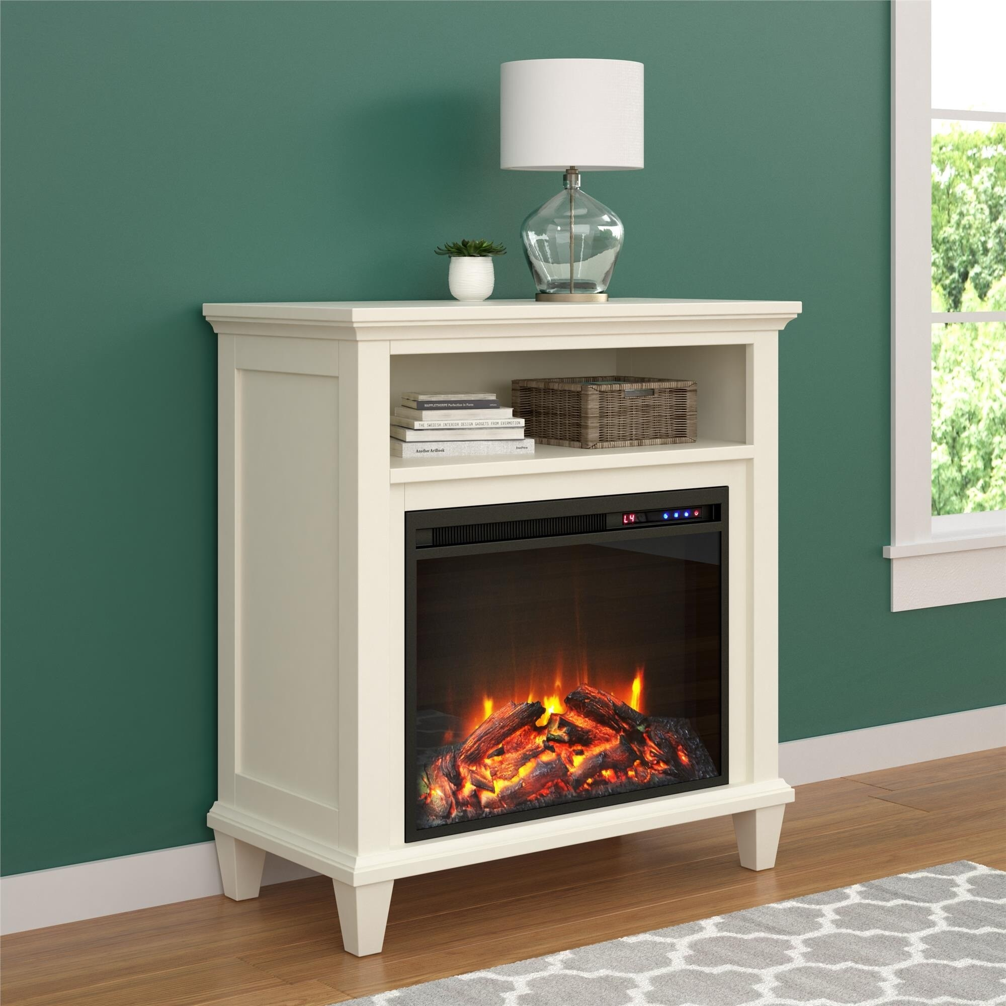 Ameriwood Home Ellington Electric Fireplace Accent Table ...