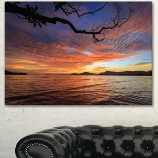Designart 'Beautiful Sunset Beach In Phuket' Modern Seashore Canvas Wall Art Print