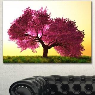 Designart 'Cherry Blossom in Beautiful Garden' Landscape Wall Artwork Canvas