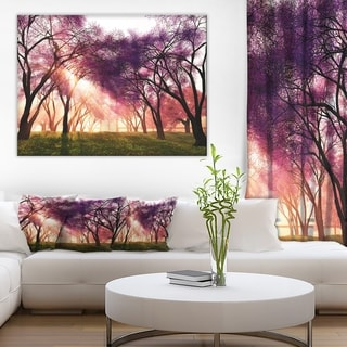 designart cherry blossoms japan garden landscape wall artwork canvas