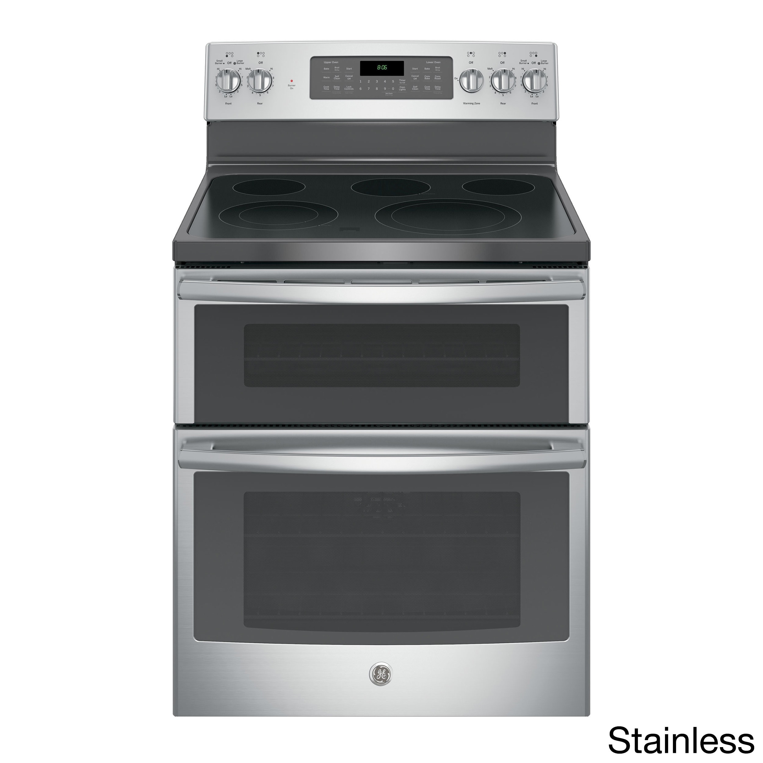 GE 30-inch Stainless Steel Electric Double Oven with Convection Range Stainless Steel