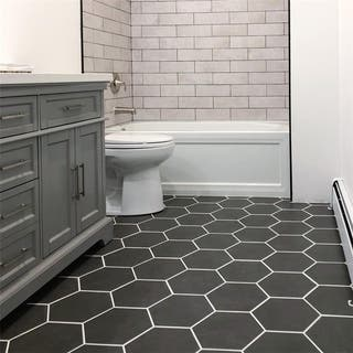 SomerTile 8.625x9.875-inch Vendimia Marengo Hex Porcelain Floor and Wall Tile (25/Case, 11.19 sqft.) https://ak1.ostkcdn.com/images/products/13178493/P19901478.jpg?impolicy=medium