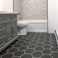 SomerTile 8.625x9.875-inch Vendimia Marengo Hex Porcelain Floor and Wall Tile (25 tiles/11.19 sqft.)