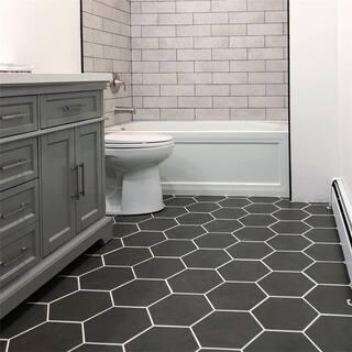 SomerTile 8.625x9.875-inch Vendimia Marengo Hex Porcelain Floor and Wall Tile (25 tiles/11.56 sqft.)