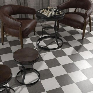SomerTile 9.75x9.75-inch 10.76 sq. ft. Vendimia Marengo Porcelain Floor and Wall Tile (Case of 16)