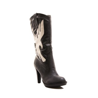 Gomax Women's Ginevra 08 Mid-calf Pull-on Platform Western Boot