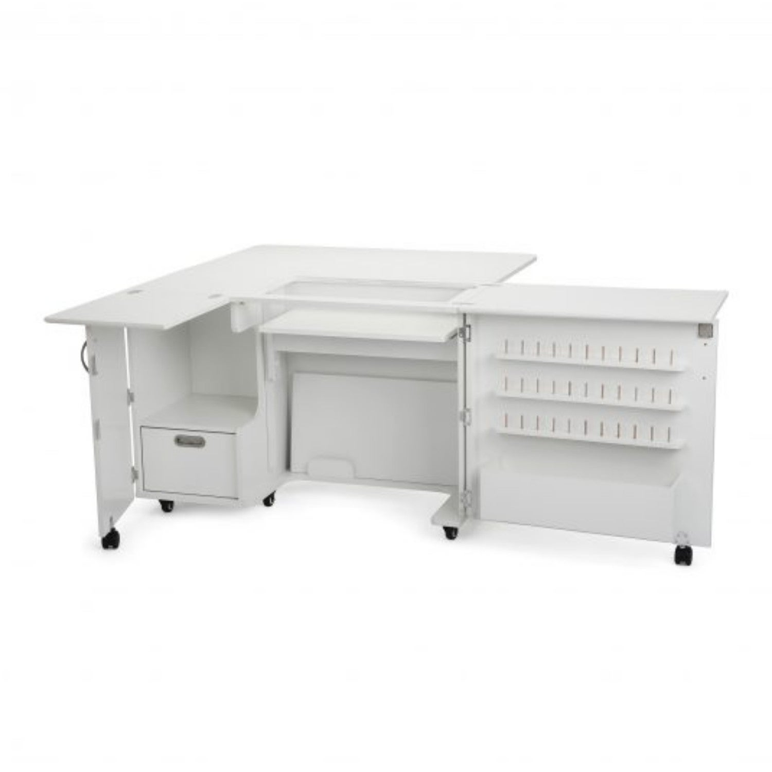 Kangaroo Kabinets 'Wallaby II' White Sewing Machine Table...
