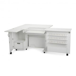 Kangaroo Kabinets 'Wallaby II' White Sewing Machine Table Furniture Cabinet