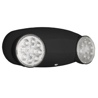 Lithonia Lighting Quantum 2-light Black LED Emergency Fixture Unit